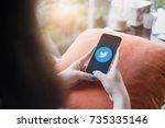 chiang mai  thailand   oct 15 ...   Shutterstock . vector #735335146