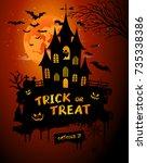 halloween poster  night... | Shutterstock .eps vector #735338386