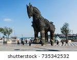 canakkale  turkey   august 14 ...   Shutterstock . vector #735342532