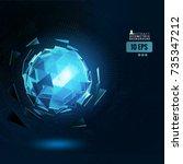 polygonal blue abstract...   Shutterstock .eps vector #735347212