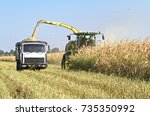 mikhailovka  ukraine   august... | Shutterstock . vector #735350992
