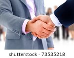 handshake isolated over... | Shutterstock . vector #73535218