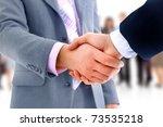 handshake isolated over... | Shutterstock . vector #73535218