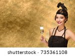 art deco style new year party... | Shutterstock . vector #735361108