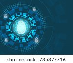 cyber security concept ... | Shutterstock .eps vector #735377716