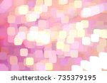 art pink color abstract pattern ... | Shutterstock . vector #735379195