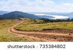 Dirt Road In The Carpathian...