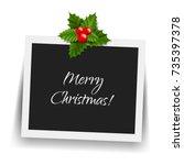 christmas photo frame gradient... | Shutterstock .eps vector #735397378