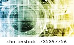 digital portal gateway access... | Shutterstock . vector #735397756