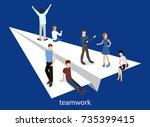 isometric vector illustration... | Shutterstock .eps vector #735399415