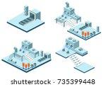 isometric 3d vector... | Shutterstock .eps vector #735399448