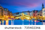 Rialto Bridge In Venice  Italy...
