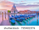 grand canal in venice  italy...   Shutterstock . vector #735402376