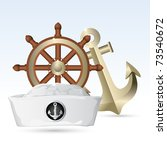 illustration of sailor hat with ... | Shutterstock .eps vector #73540672