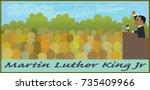 mlk illustration   cartoon... | Shutterstock .eps vector #735409966
