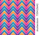 bright zigzag seamless pattern | Shutterstock .eps vector #735415642
