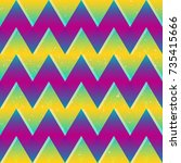bright color zigzag seamless... | Shutterstock .eps vector #735415666