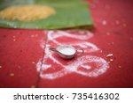 hindu traditional wedding... | Shutterstock . vector #735416302