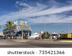 cadiz spain on 25th sept 2017 ... | Shutterstock . vector #735421366
