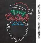 typographic christmas... | Shutterstock .eps vector #735425026