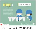 dentist check up your teeth and ... | Shutterstock .eps vector #735431356