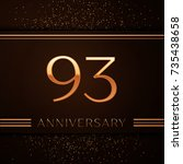 realistic ninety three years... | Shutterstock .eps vector #735438658