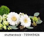 sympathy flower background.   Shutterstock . vector #735445426