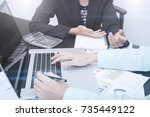 business accountant with... | Shutterstock . vector #735449122