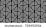 seamless pattern with black... | Shutterstock .eps vector #735452926