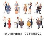 hairdresser stylist barber... | Shutterstock .eps vector #735456922