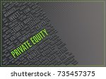 private equity concept with... | Shutterstock . vector #735457375
