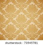 Stock vector damask seamless floral pattern vintage vector illustration 73545781