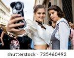 milan  italy   september 21 ... | Shutterstock . vector #735460492