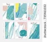 hand drawn creative universal...   Shutterstock .eps vector #735461032