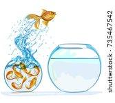 goldfish leap | Shutterstock .eps vector #735467542