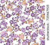 floral pattern | Shutterstock .eps vector #735467935