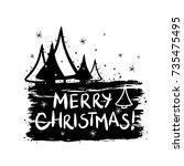 merry christmas template for...   Shutterstock .eps vector #735475495