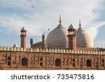 the emperor's mosque   badshahi ... | Shutterstock . vector #735475816