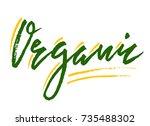 organic handdrawn brush... | Shutterstock .eps vector #735488302