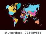color world map | Shutterstock .eps vector #735489556