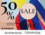 sale advertisement banner with...