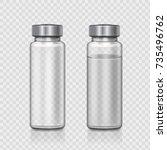 transparent glass medical... | Shutterstock .eps vector #735496762