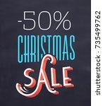 christmas sale sign | Shutterstock .eps vector #735499762