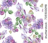 bright seamless pattern with... | Shutterstock . vector #735503098