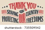 thank you for serving our... | Shutterstock .eps vector #735509542