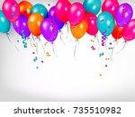 horizontal line  border of... | Shutterstock .eps vector #735510982