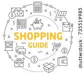 linear illustration shopping...   Shutterstock .eps vector #735519985