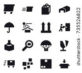 16 vector icon set   delivery ... | Shutterstock .eps vector #735526822