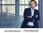 the actor on the set. cinema... | Shutterstock . vector #735530335