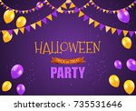 halloween party background... | Shutterstock . vector #735531646